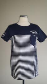 J. Mirano t-shirt gestreept(navy)