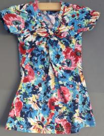 Zero Jeans jurk bloemen blauw (maat 92/98)