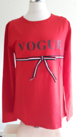 Zero shirt vogue (rood) maat 164/170
