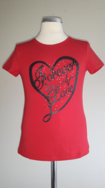 Zero jeans shirt forever in love(rood)