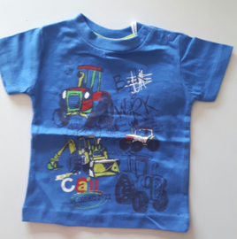 Knot so bad shirt tractor blauw (maat68)