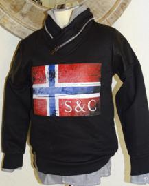 S&C trui met vlag (zwart) 140/146