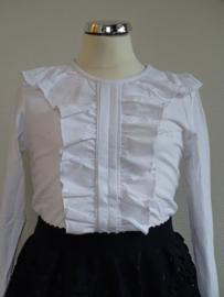 Zero Shirt met roezel (wit)164/170
