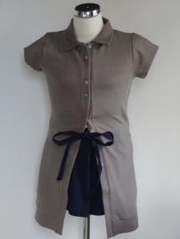 Porto azul doorknoop jurk Taupe