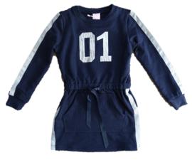 Zero Jeans jurk met cijfer (blauw)maat 104/110