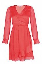 Dxel jurk overslag ( koraal)