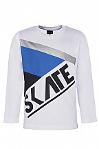 Kids up shirt skate (wit)