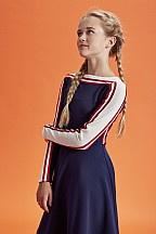 Dxel jurk marine/rood