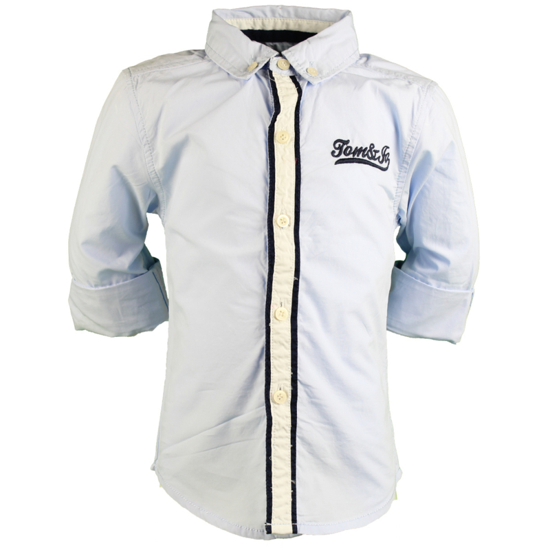 Tom&Jo blouse lichtblauw print achter