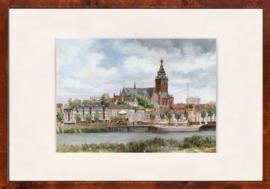 Nijmegen Waalgezicht schilderij