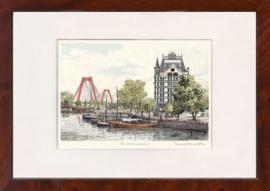 Rotterdam oude haven Witte huis nieuwe Willemsbrug