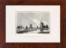 12x17 cm. Kinderdijk molens