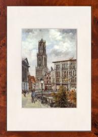 Utrecht oude gracht schilderij