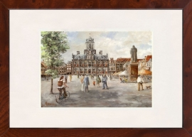 Delft Markt schilderij