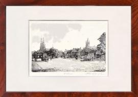 Eindhoven markt met kerk links