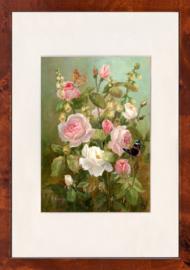 Vlinder met rozen