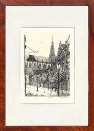 Haarlem Warmoestraat  zwart wit