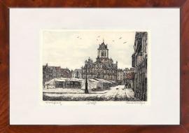 Delft Markt en Stadhuis