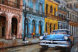 Metalen 3-d schilderij (  Cuba )