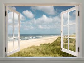 Poster indoor&outdoor  witte raamluiken