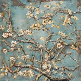 Metalen 3-d schilderij (  Blossom )