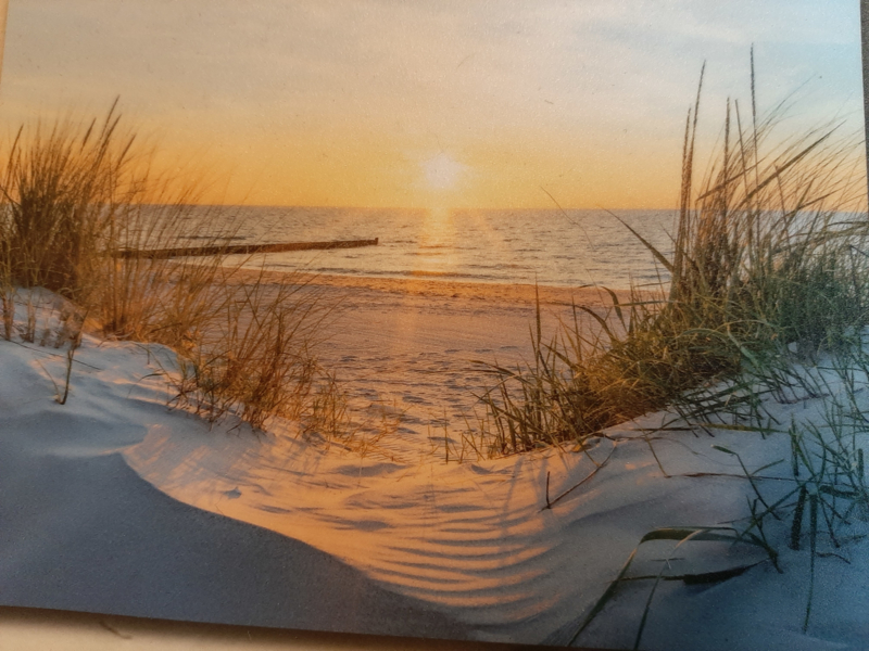 Poster indoor&outdoor  ondergaande zon/duinen