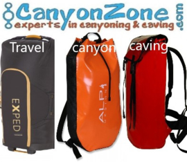 What are suitable luggage and travel bags for outdoor sports?