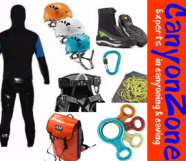 What material/equipment do you need for canyoning?