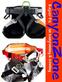 What is the difference between the Petzl Canyon Guide and Canyon Revolution harness?