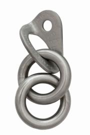 Raumer ROCK hanger Ø10 + 2 ronde ringen hanger inox Ø10