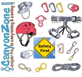 How do I maintain my canyoning and caving equipment?