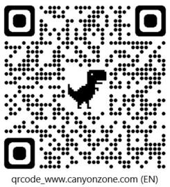 Wat is de QR-code voor de website van Canyonzone?