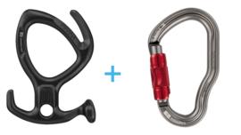 Petzl Pirana Black + Vertigo Twist-Lock