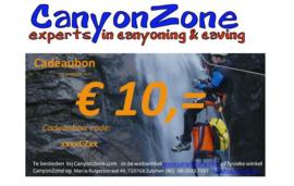 CanyonZone Cadeaubon 10