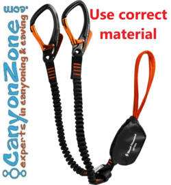 Can you safely pass a via ferrata with caving equipment, especially the lanyards?