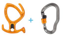 Petzl Pirana Orange + Vertigo Wire-Lock