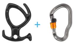 Petzl Pirana Black + Vertigo Wire-Lock