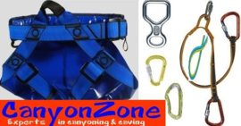 Rent a canyon belt (with extensive accessories)