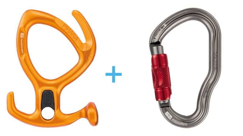 Petzl Pirana Orange + Vertigo Twist-Lock