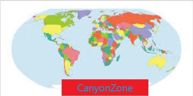 Wereldkaart CanyonZone