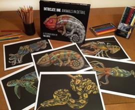 """Kleurboek """"Intricate Ink Animals in Detail"""""""