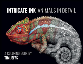 "Flip through review of ""Intricate Ink Animals in Detail"" adult coloring book"