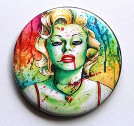 Pocket Mirror - Marilyn Monroe Zombie Doll