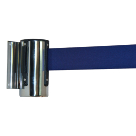 Muurcassette chroom 2,0 mtr. blauw band - info