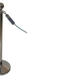 Afzetkoord BasicLine  velours grijs 40 mm. - info