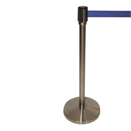 Afzetpaal RVS geslepen snelband BSL 3,0 mtr. blauw - info