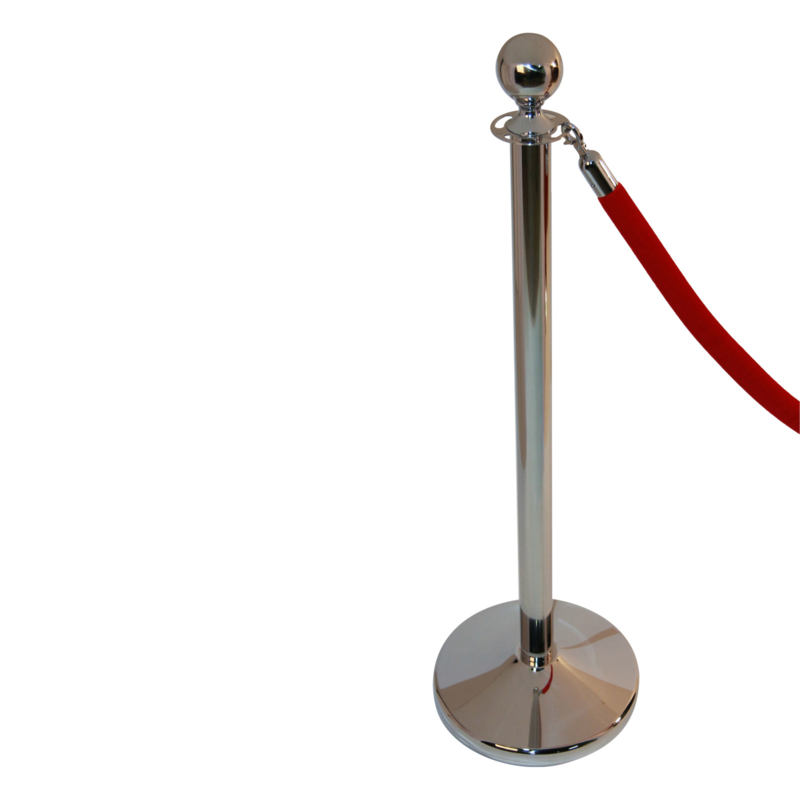 Afzetkoord BasicLine velours rood 32 mm. - info