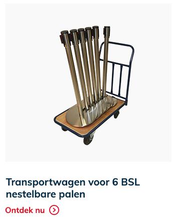 Transportwagen 6 afzetpalen