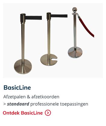 BasicLine afzetpalen & afzetkoorden