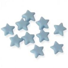Blauwe sterretjes mat klein 10 stuks